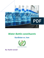 Water Constituent - comparison between  iran and iraqs bottle water