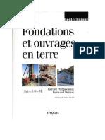 Fondations Et Ouvrages en Terre
