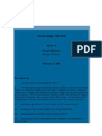 Union Budget 2009