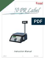 SI-810PR Label Instruction Manual R17