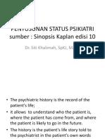 Penyusunan Status Psikiatri