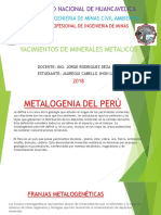 Metalogenia Del Peru