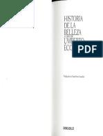 Eco Umberto Historia de La Belleza