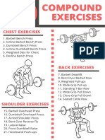 50 Compound Exercises Checklist Isolation Exercises