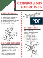 50 Compound Exercises Checklist Isolation Exercises