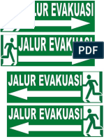 gambar jalur evakuasi
