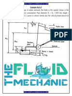 Fluid Mechanics - Pump-Pipeline System Analysis & Design - Solved Examples