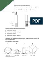 Density (Multiple Choice) QP