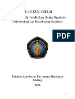 Buku Kurikulum Program Studi Pulmonologi Dan Kedokteran Respirasi UB