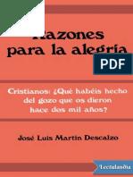 Razones para la alegria - Jose Luis Martin Descalzo.epub