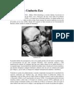 Biografía de Umberto Eco