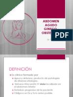 Abdomen Agudo Obstetrico