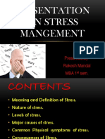 Presentation on Stress Mangement