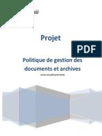 Politique Gestion Documents Archives