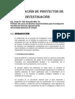 Formulación de Proyectos de Investigación