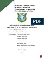 Determinación Alcalina en Aguas Superficiales en Del Río Pachachaca - Abancay 2018 Final