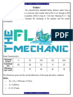 Fluid Mechanics - Pump-Pipeline System Analysis & Design Solved Problem No.3