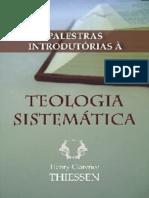 Palestras Em Teologia Sistemática - Henry Clarence Thiessen