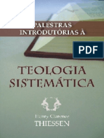 Palestras Em Teologia Sistemática - Henry Clarence Thiessen