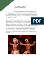 Qué Es La Tapati Rapa Nui