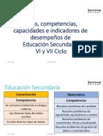 Areas y Competencias en Secundaria