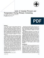 Field Measurements of Annular Pressure and Temperature During Primary Cementing