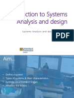 Week 1 - Introduction to Systems Analysis and Design