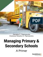 Managing Primary Secondary Schools