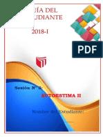 Guía Del Estudiante Autoestima II - Sesión Nª03