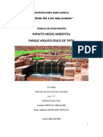 Impacto Ambiental Sitio Arqueológico de Tipón - Cusco