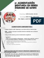 alimentación complementaria en niños con síndrome down