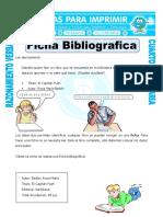 Ficha Ficha Bibliografica Para Cuarto de Primaria