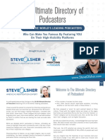 Podcast Directory of Influencers