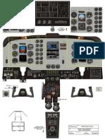 KingAir200 Cockpit Layout