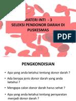 Seleksi Pendonor Darah Di Puskesmas