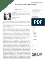 LITERATURA DE CIENCIA FICCION EN ECUADOR- LA DOBLE Y ÚNICA MUJER Pablo Palacio