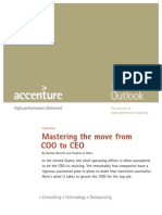 Accenture Outlook Mastering Move From COO to CEO