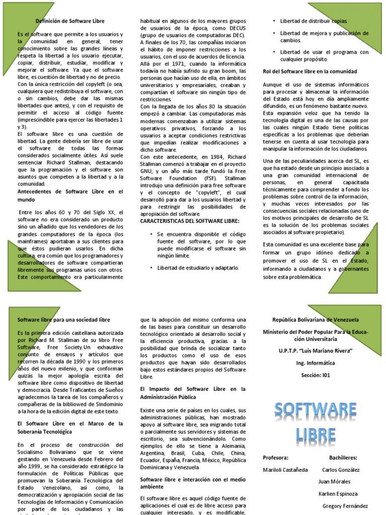 262052018-Definicion-de-Software-Libre docx