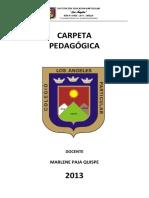 Carpeta Pedagogica 2013 - Ultima