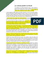 Justiça e Sistema Punitivo No Brasil