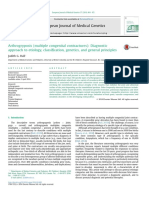 Arthrogryposis (Multiple Congenital Contractures)- Diagnostic Approach to Etiology, Classification, Genetics, And General Principles
