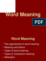 Lecture 7 Word Meaning