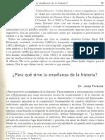 Para Que Sirve La EnseÃ_anza de La Historia - Fontana (Texto 4 Unidad 1 INTA - Vallejos) (1)