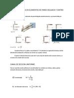 Carga Asimetrica en Elementos de Pared Delgada y Centro de Cortante