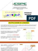 Lagrange e Integrales Multiples (Aplicaciones)
