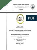 PROPUESTA DE IMPLEMENTACION DE LAS 5S EN EL AREA DE LABORATORIO DE CONTROL DE CALIDAD DE  LA EMPRESA AMERICAN  CHEMICAL COMPANY S.R.L.