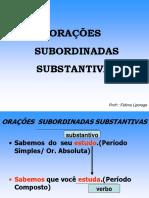 ORAÇÕES  SUBSTANTIVAS