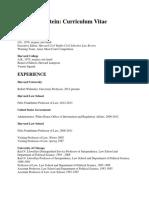 Sunstein CV