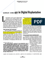 Leech Therapy in Digital Replantation