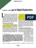 Leech Therapy in Digital Replantation